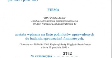 zdjęcie Audit of financial statements in Poland